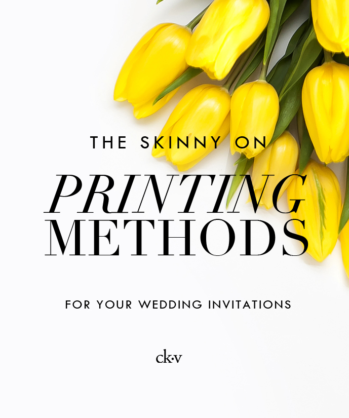 The Skinny on Printing Wedding Invitation printing methods