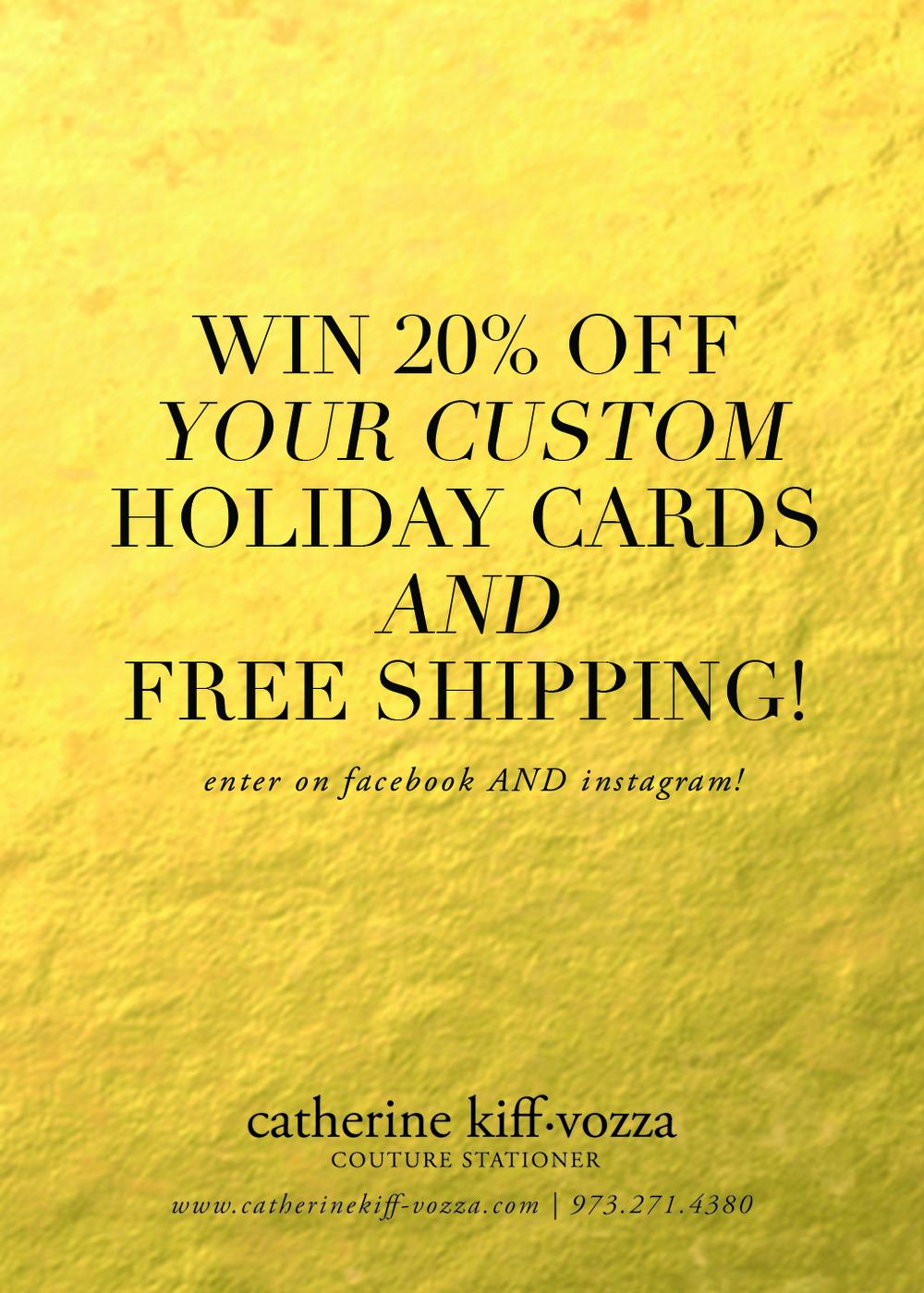 custom holiday card contest