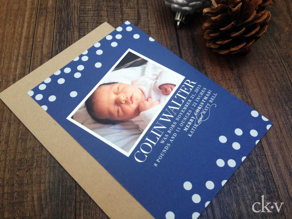 BIRTH ANNOUNCEMENT HOLIDAY CARD