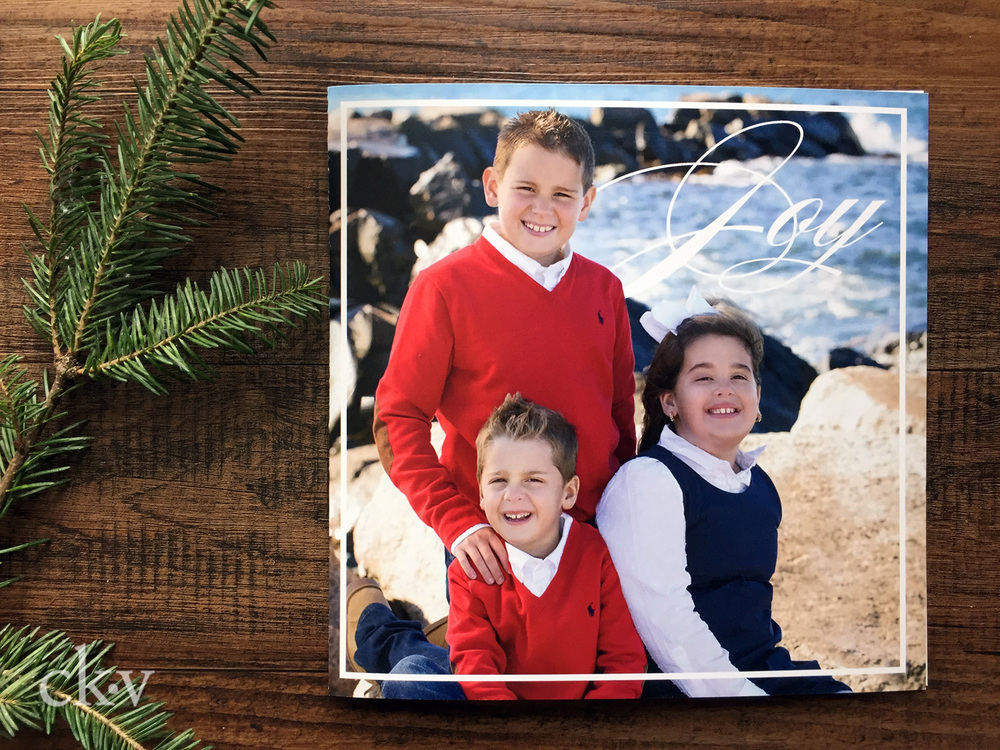 Large custom christmas holiday card