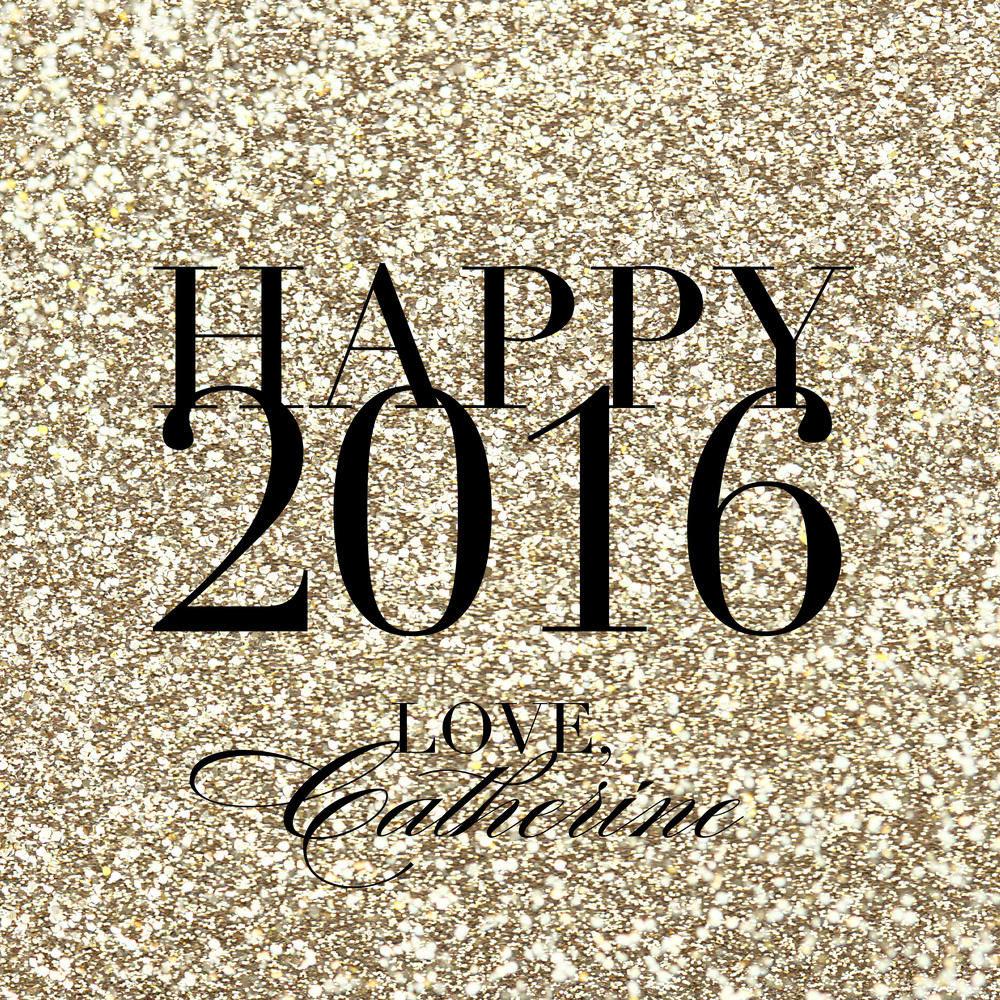 Gold glitter Happy New Year!