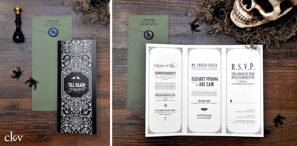 Gothic+Halloween+wedding+invitations+with+wax+seal+and+sage+green+by+Catherine+Kiff-Vozza,+Couture+Stationer-1.jpg