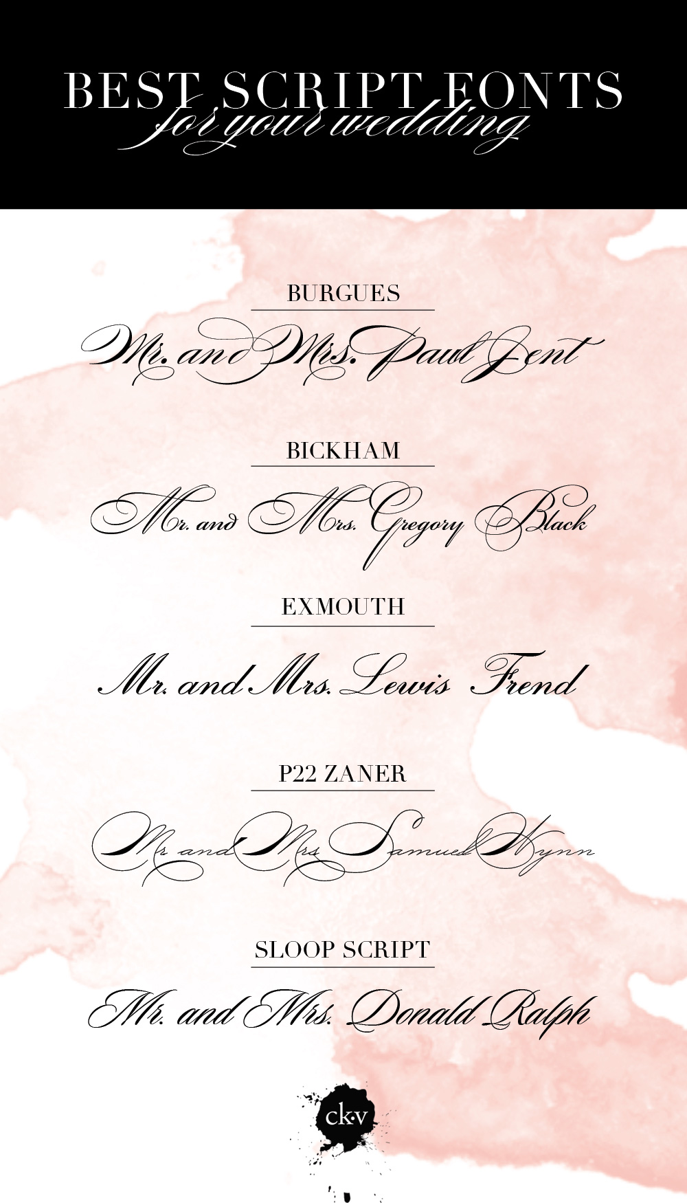 FONT FRIDAY THE ABSOLUTE BEST SCRIPT FONTS FOR YOUR WEDDING