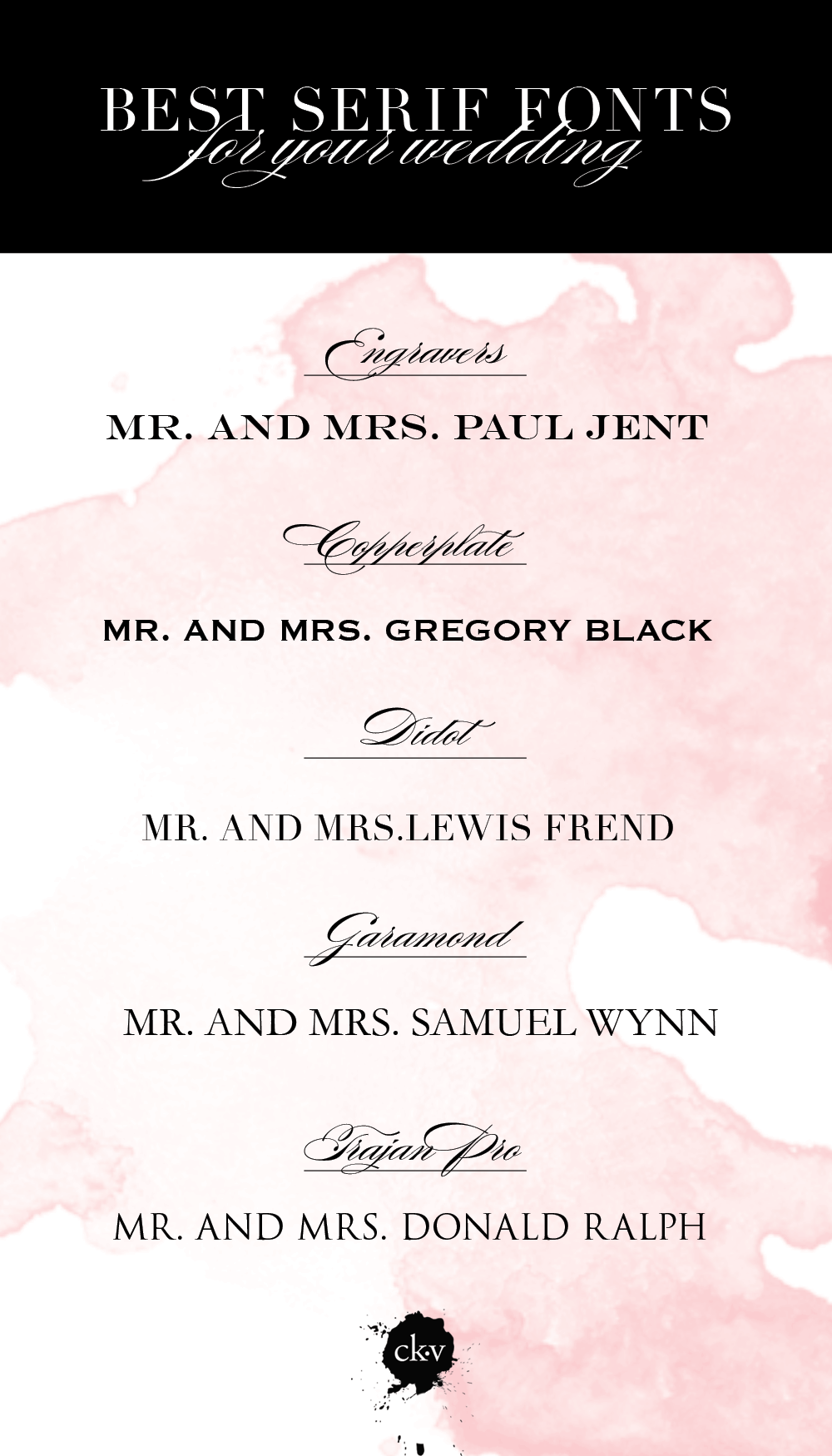 FONT FRIDAY: THE ABSOLUTE BEST SERIF FONTS FOR YOUR WEDDING ...