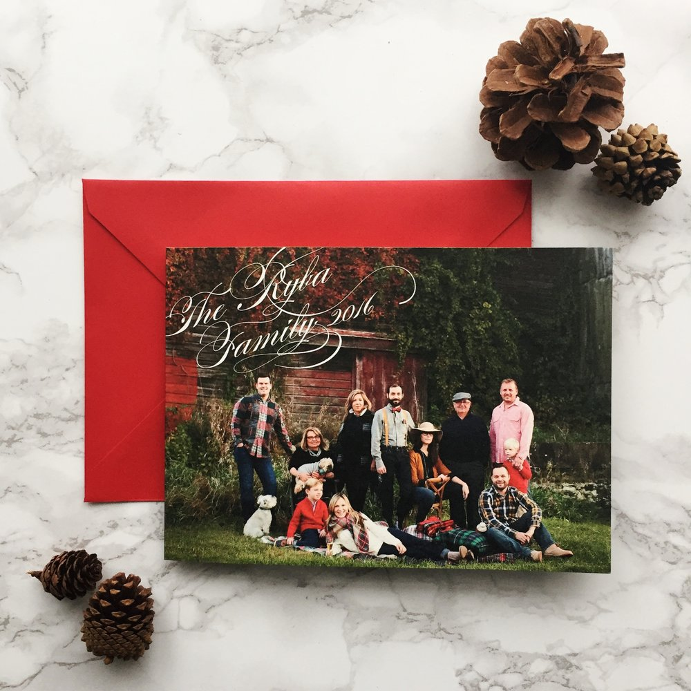 Plaid tommy hilfiger inspired holiday christmas card