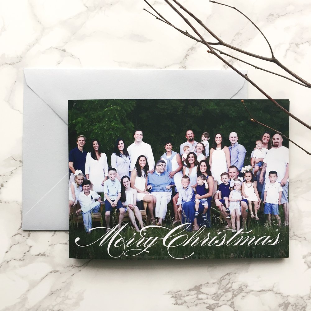 Large family portrait christmas card