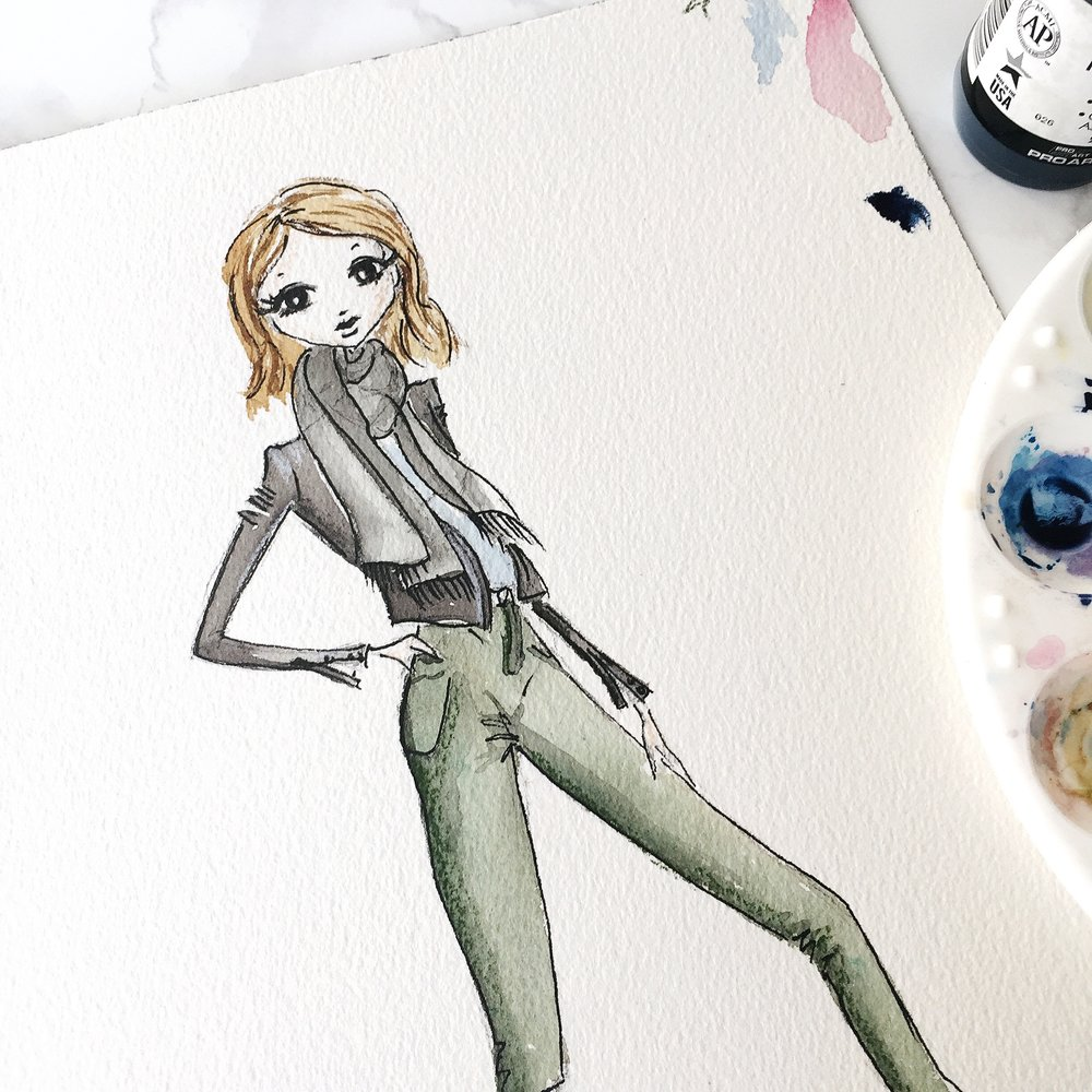 fashion blogger fashion illustration