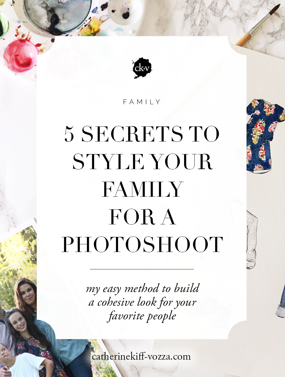 how to style your family photoshoot