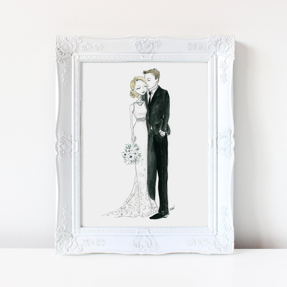 custom wedding portrait illustration