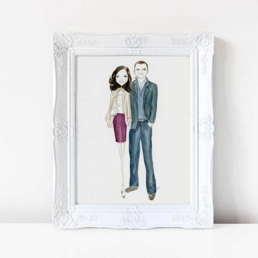 custom couple illustration