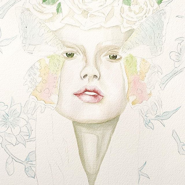 Progress on a new series...wasn't going to reveal anything until it's complete but it's a huge undertaking and it's going to be a serious amount of time before all the pieces are complete. And I'm too fired up up this girl right now not to share it. #metamorphosis #illustration #illustrator #illustratorsoninstagram #illustratorsofinstagram #changeiscoming #butterfly #fashionillustrator #watercolor #watercolorpainting #watercolorartist #strathmorepaper #phmartins #fashionillustration #paintingoftheday #creativeatheart #communityovercompetition #risingtidesociety