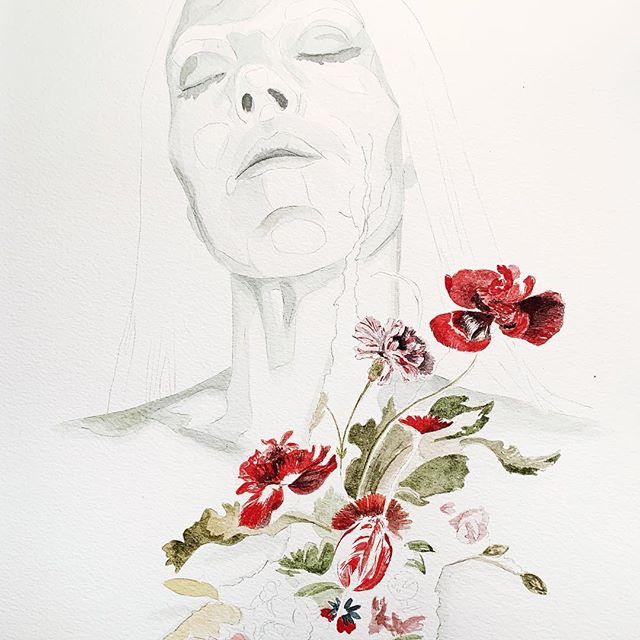 """Cause sometimes I said sometimes I hear my voice And it's been here Silent all these years""  Work in progress  #inspired #wip #silentalltheseyears  #illustrate #illustration #drawing #painting #draw #fashionillustrator #watercolorartist #watercolor #artjournal #creativeprocess #sketchbook #illustrator #artistsoninstagram #instaart #instaartist #illustratorsoninstagram #illustrationoftheday #creatives #art #bts #onmydesk #inthestudio #risingtidesociety #tnchustler #communityovercompetition #fineart #dutchflorals"