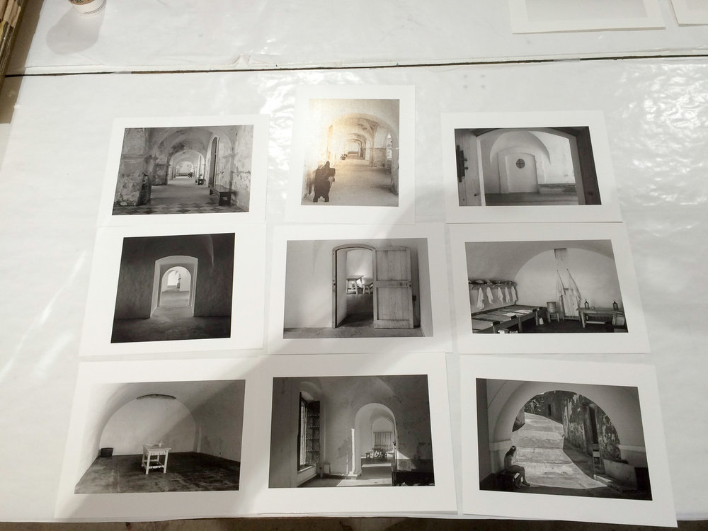 Finished prints drying down - This portfolio was shot in Puerto Rico