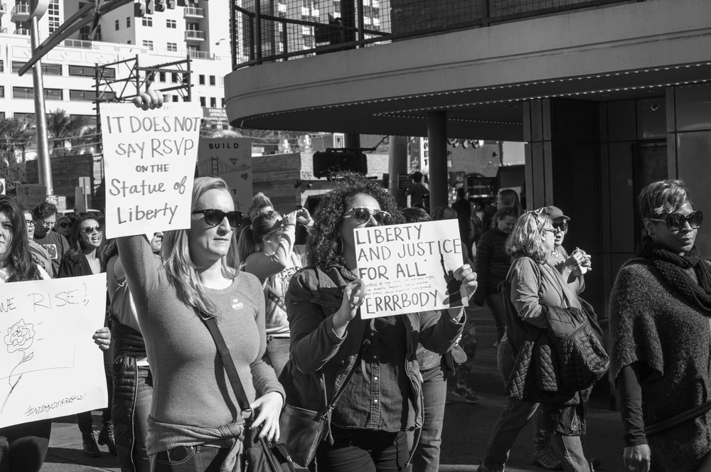 Women's March Las Vegas Photography Heather Byington