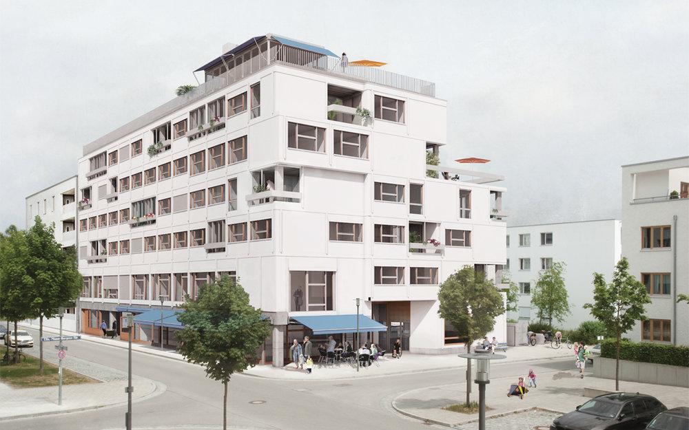"""Die neugegründete Wohnbaugenossenschaft """"Kooperative Großstadt"""" möchte im Münchner Stadtteil Riem, geplant in den 90er Jahren, neue Wege im Wohnungsbau beschreiten. Das Potential liegt in der Komplexität des Programms. >>>>"""