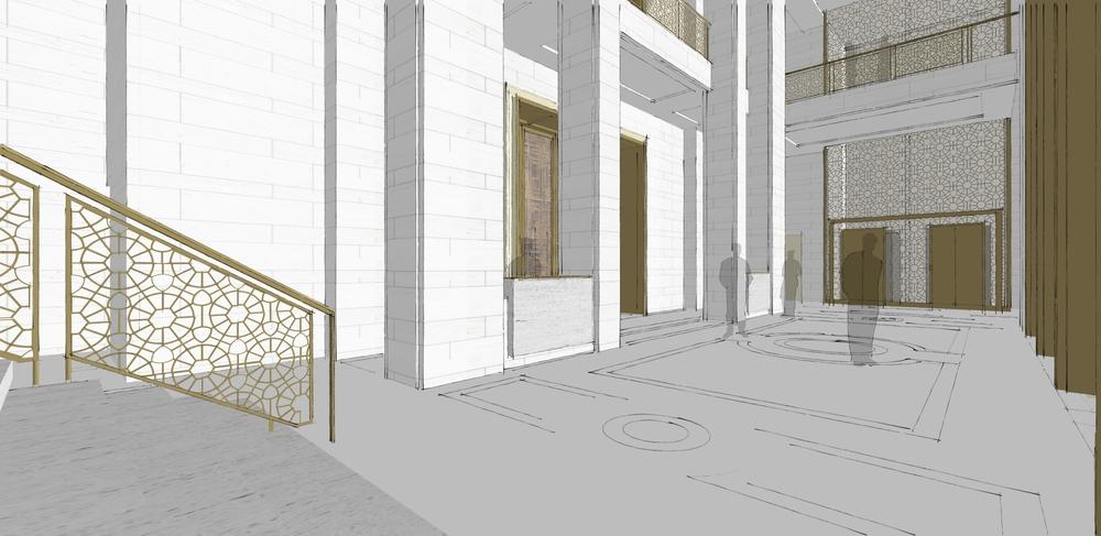 Hotel Lobby Entry Sketch