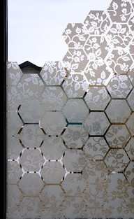 Window film hexagons http://ift.tt/1qUv91J