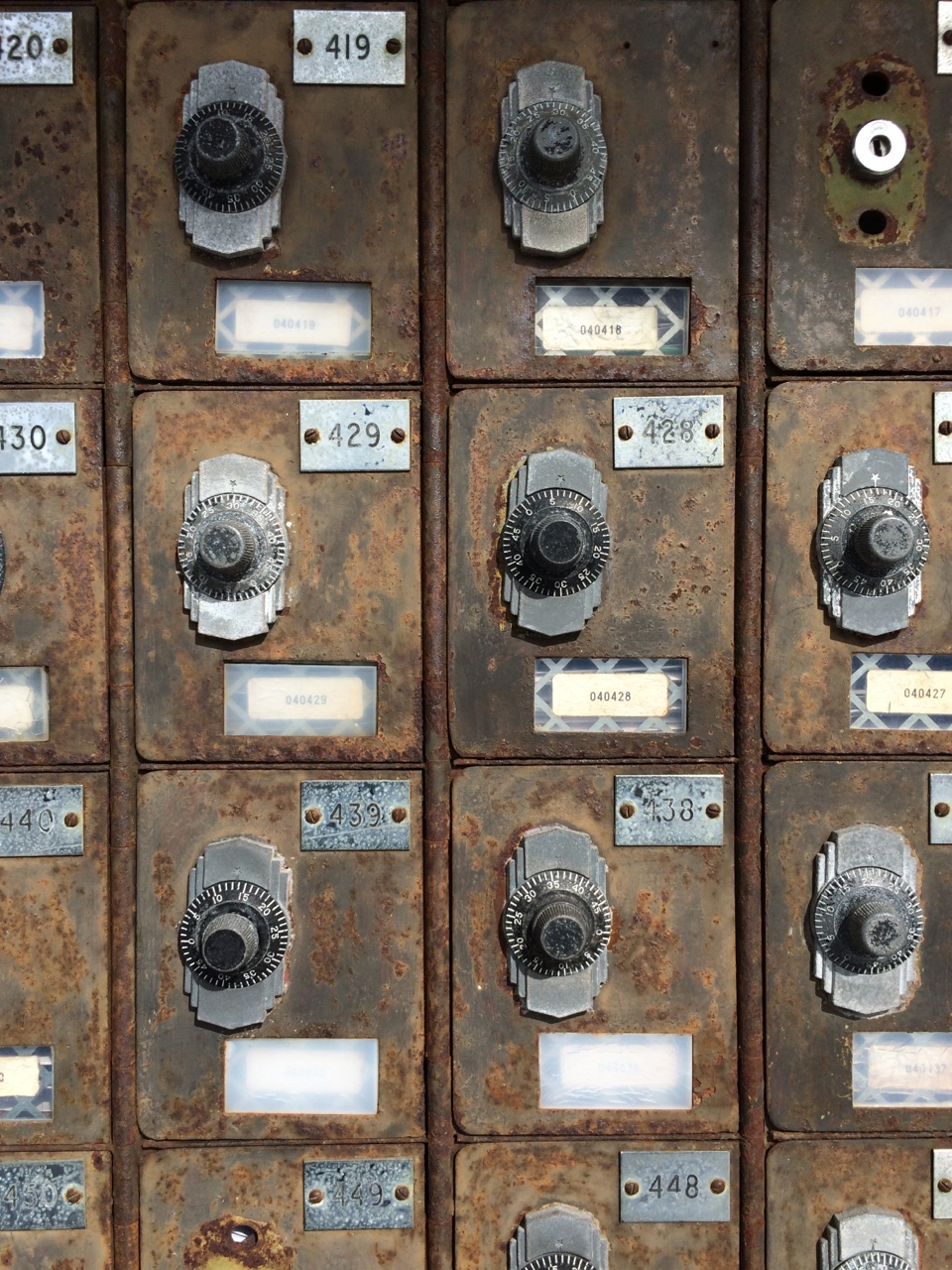 Vintage mailboxes -Photo by Havard Cooper III