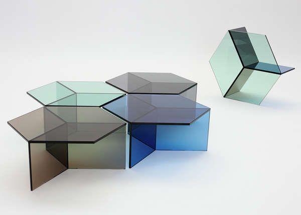 thedesignwalker :   Isom Tables by Sebastian Scherer     Simple Geometries