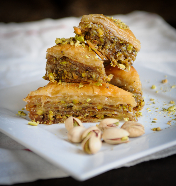 Pistachio Baklava — potato chips are not dinner.