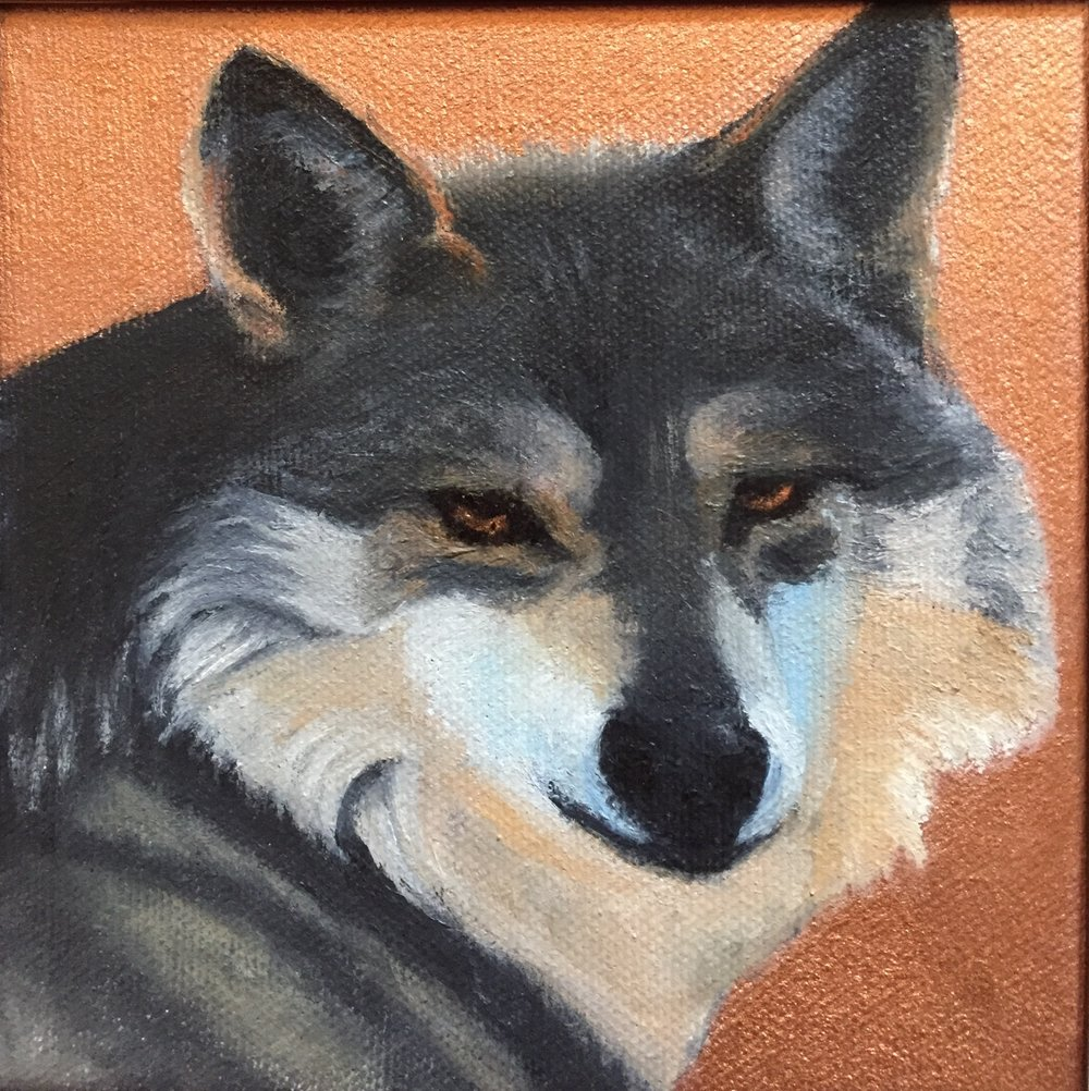 New Mexico Critters: Mexican Grey Wolf, SOLD.
