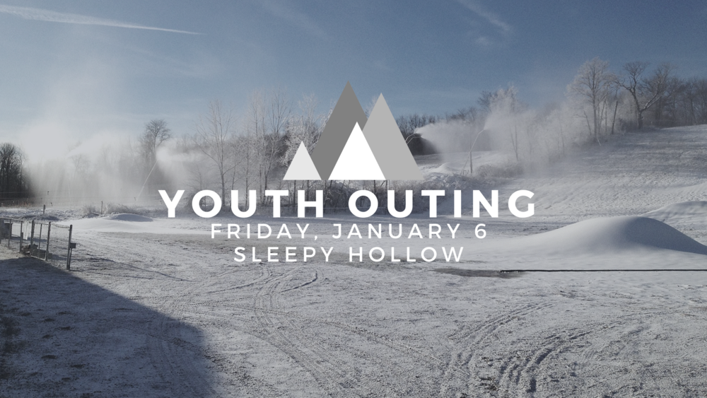 Gateway Youth (Middle & High school students) will be taking the slopes of Sleepy Hollow after a pizza dinner! Contact nate@thegatewaychurch.com for more details!