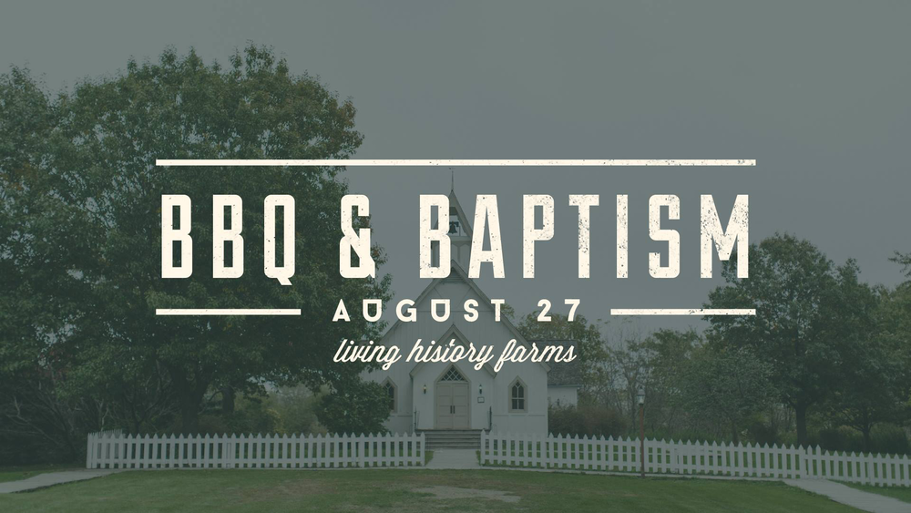 Our annual BBQ and Baptism is Sunday, August 27 from 5pm - 8pm at the Prairie Church at Living History Farms. This is the highlight event of the summer! We'll share some delicious food, enjoy a few highly competitive yard games and celebrate as individuals within our community bear witness to the difference that Jesus has made in their lives through water baptism. Don't miss it! What to Bring: Gateway will provide BBQ meats, fixins (BBQ sauce, buns), & drinks. If your last name begins with A-I, please bring some type of salad. If your last name begins with J-R, please bring a side dish. If your last name begins with S-Z, please bring a dessert. It's a picnic! Bring chairs and blankets. Schedule: 5:00-5:15 | Arrive and Pray 5:15-6:00 | Worship & Baptism 6:00-6:30 | Potluck Dinner 6:00-7:30 | Live Music 6:30-8:00 | Yard Games RSVP on our facebook event page