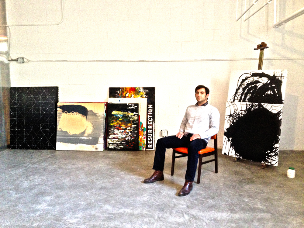 In my new studio located in the basement of the church on 57th St. in Lawrenceville, also known as 57th St. Studios.