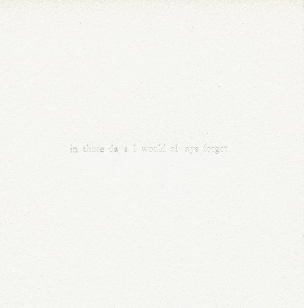 letterpress (blind emboss)  4.25x4.25 in.  2016