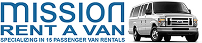 Mission Van can get you there! Tell them we sent you for a great deal on 15-passenger van rentals.