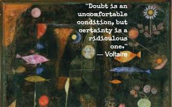 Voltaire and Paul Klee with Hypnotherapist in central London Image.