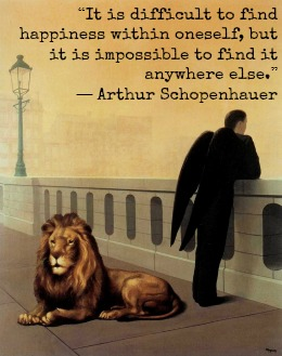 Arthur Schopenhauer and Rene Magritte with Hypbnotherapist in Central London Image