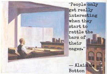 Alain de Botton and Edward Hopper with Hypnotherapist is Central London Image