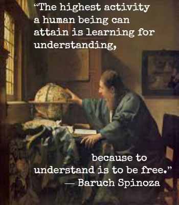 Baruch Spinoza and Vermeer with Hypnotherapist in Central London Image