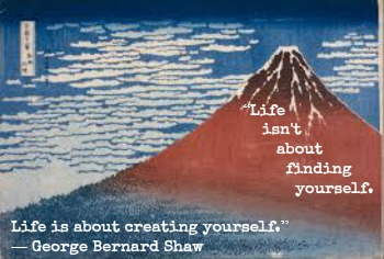 George Bernard Shaw and Hokusai woth Hypnotherapist in Central London Image