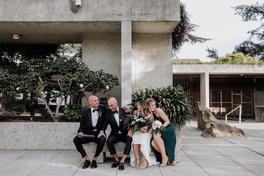 Oakland Museum of California Wedding #fallwedding #modernwedding #minimalswedding #BayAreaWeddingPhotographer #weddingprep #weddingday #weddingceremony #weddingdaydetails #weddingparty