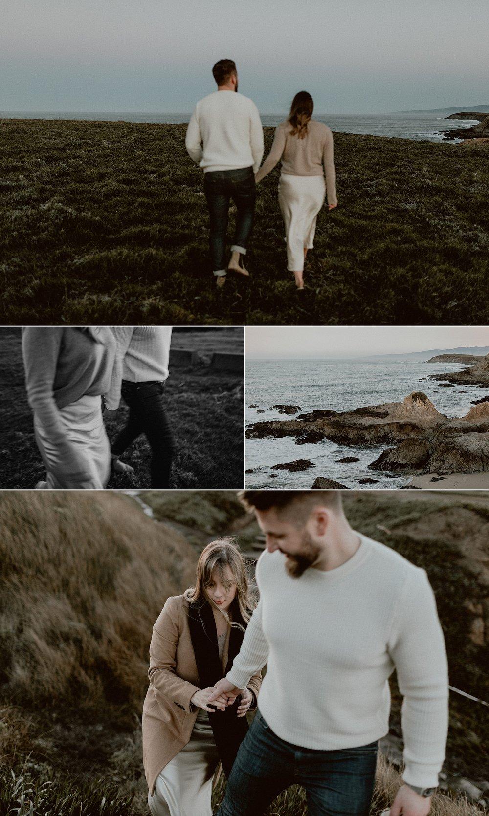 Bodega Headlands Sunrise Engagement Shoot | Gretchen Gause Photography #BodegaBay #EngagementSession #SunriseSession #SanFranciscoEngagementPhotographer #BayAreaWeddingPhotographer #DestinationWedding #RealCouple