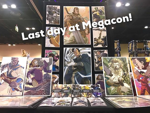 Last day at Megacon! Looks like it's going to rain ☔️ But we're cosy chillin indoors 😂 Booth 124A ✨ . . #art #artwork #illustration #drawing #draw #digitalart #instaart #instaartist #sketch #creative #artist #fanart #poster #ink #preview #sneakpeek #megacon #megacon2018 #megaconorlando #artistalley