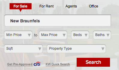 Search for Homes in New Braunfels!