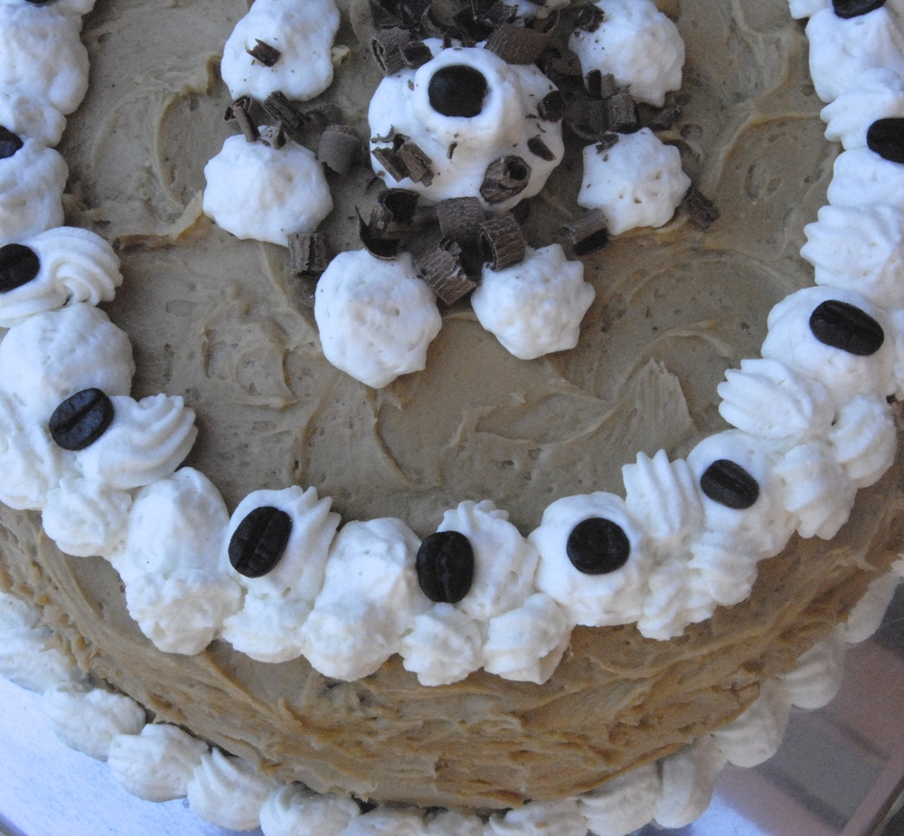 Irish Coffee Cake w/Whiskey Ganache and Coffee Buttercream Frosting