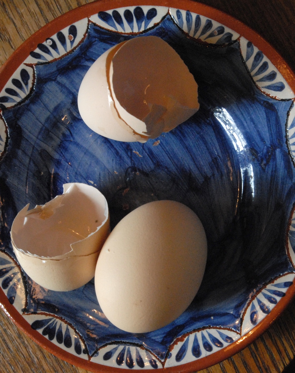 Home-raised eggs