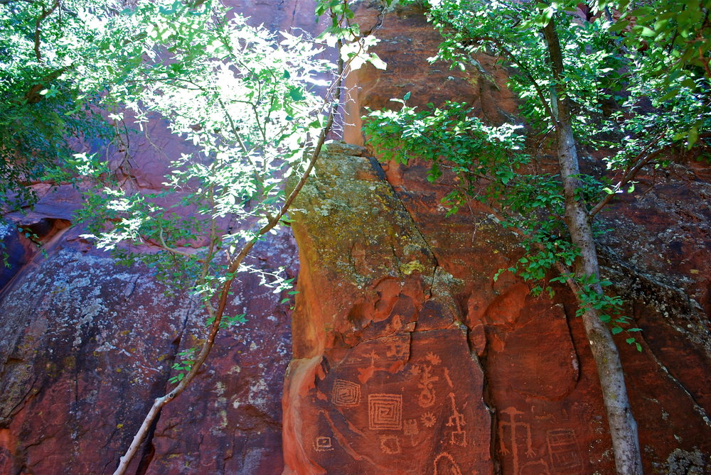 Petroglyphs located at V Bar V Ranch, Sedona, AZ