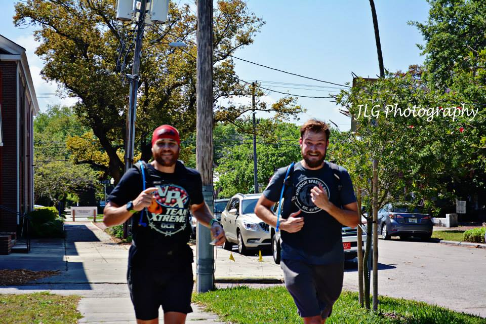 Matt and I finishing our half marathon challenge