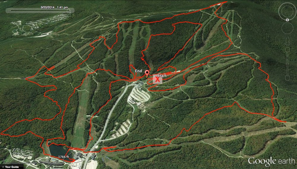 "So far we had completed one lap of the beast, mapped above. Courtesy of Ekaterina ""solo"" Solovieva"