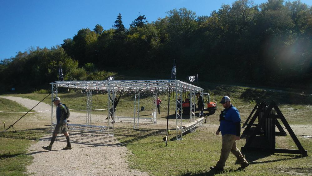 The first rig obstacle.  Photo courtesy of Shawn Johnson
