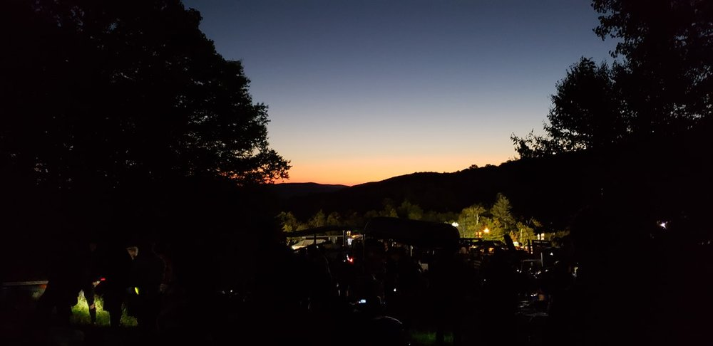 Sunrise at the starting line. Photo credit Kate Gelineau