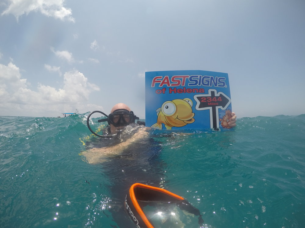 Diving in Cancun on the trip we won for being one of the top 10% FASTSIGNS in growth in 2015!