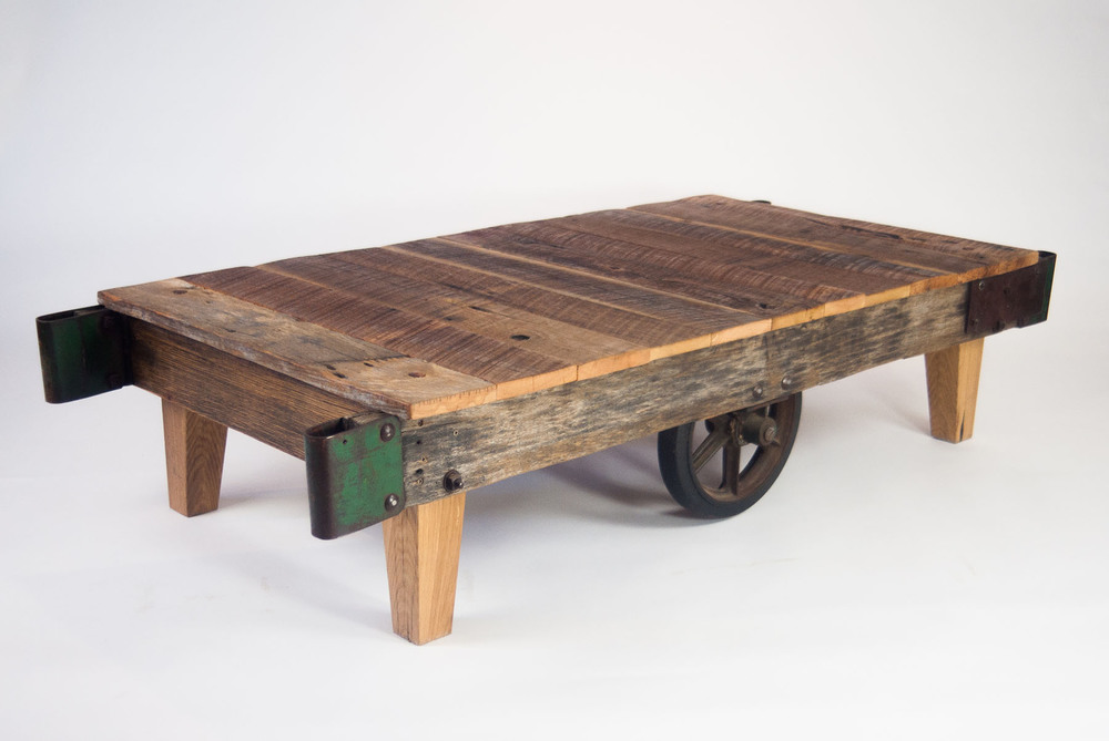 Vintage Warehouse Cart Coffee Table