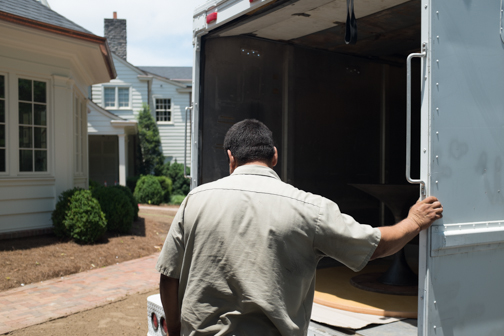 The paparazzi  closes in on Joe, our go to guy for deliveries, as he unloads the truck at Belle Meade Country Club.
