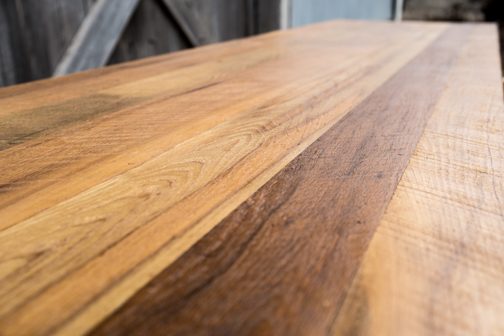Reclaimed Heart Pine Top
